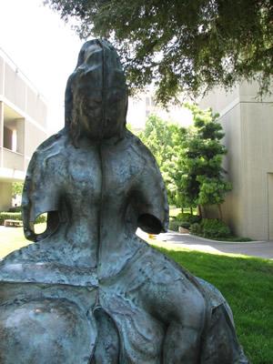 Metal Female Statue