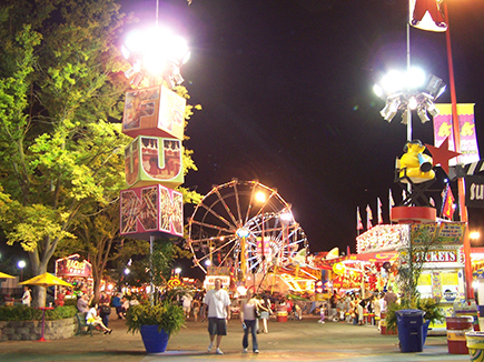 image of the fair at night