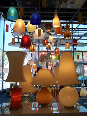 Lamps in Lighting Display