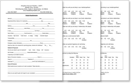 Image of 3 intake forms